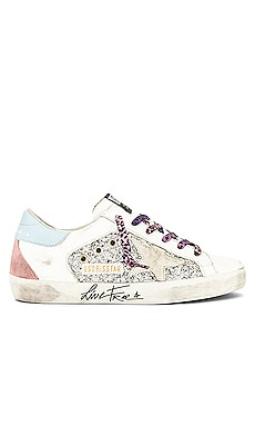 Superstar Glitter Sneaker Golden Goose $560 Collections