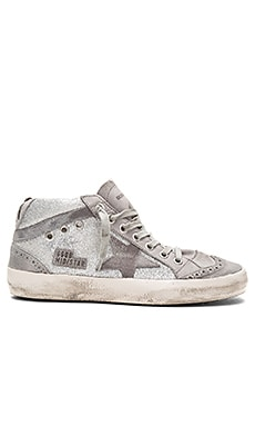 Mid Star Sneaker in Grey Glitter