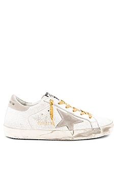 Superstar Sneaker in White Crash Leather