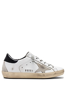 Superstar Sneaker en White, Black & Cream Metal