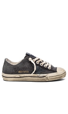 Golden Goose V Star 2 Sneaker in Dark Grey Canvas