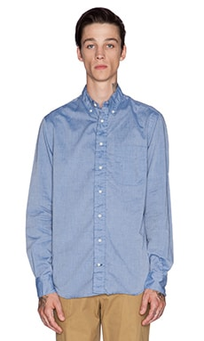 Gitman Vintage Chambray Button Down in Navy