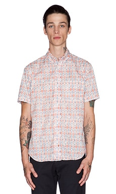Gitman Vintage Woodies Button Down in White
