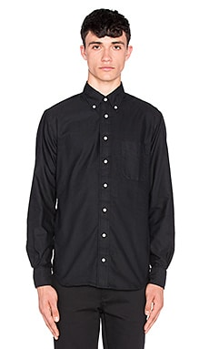 Gitman Vintage Overdye Oxford Button Up in Black