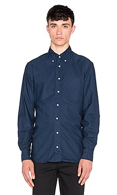 Gitman Vintage Overdye Oxford Button Up in Navy