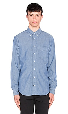 Gitman Vintage Chambray Button Up in Blue