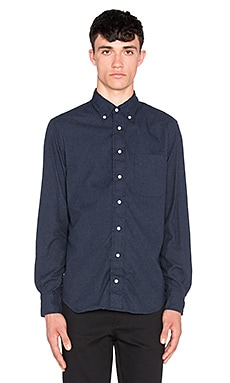 Gitman Vintage Portuguese Flannel Button Up in Navy Cadet