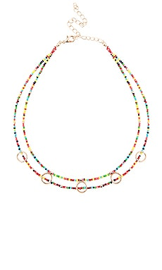 GARGANTILLA RAINBOW EIGHT by GJENMI JEWELRY $26