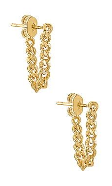Chain Hug Earring EIGHT by GJENMI JEWELRY $24