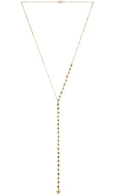 EIGHT by GJENMI JEWELRY Lariat Necklace in Gold & Labrodite