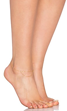 EIGHT by GJENMI JEWELRY Anklet in Gold