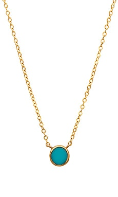 EIGHT by GJENMI JEWELRY Circle Necklace in Turquoise