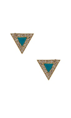 EIGHT by GJENMI JEWELRY Triangle Stud Earring in Turquoise