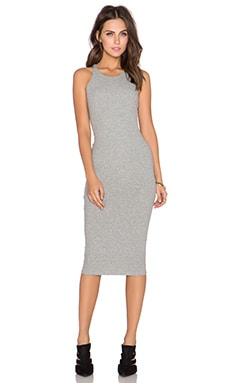 GLAMOROUS Bodycon Midi Dress in Grey Marl
