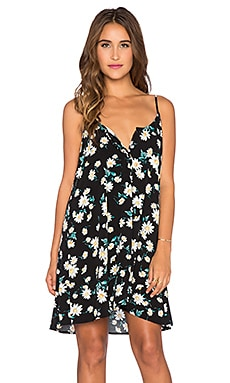 GLAMOROUS Tank Dress in Black Summer Daisy