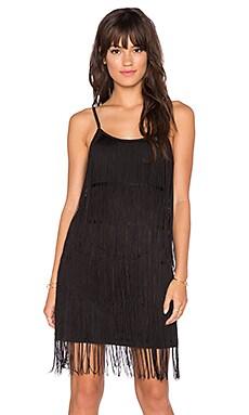 GLAMOROUS Fringe Mini Dress in Black