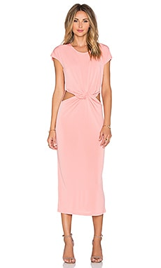 GLAMOROUS Twist Front Dress in Peach