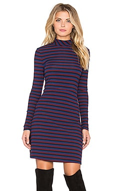 GLAMOROUS Stripe Mini Dress in Navy & Red