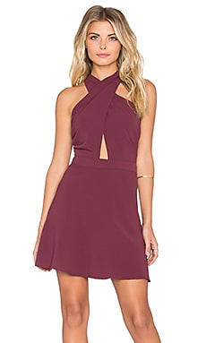GLAMOROUS Sleeveless Mini Dress in Raspberry