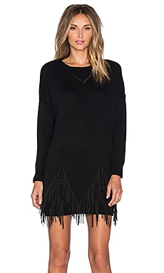 GLAMOROUS Long Sleeve Shift Dress in Black