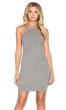 GLAMOROUS Sleeveless Mini Dress in Grey Marl