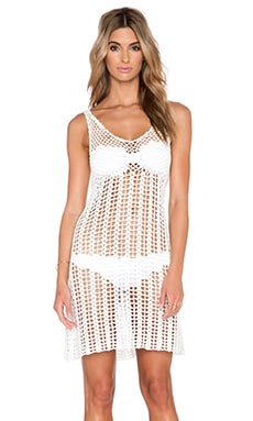 GLAMOROUS Mini Crochet Dress in White