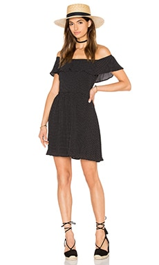 GLAMOROUS Fit & Flare Dress in Black Tiny Dot
