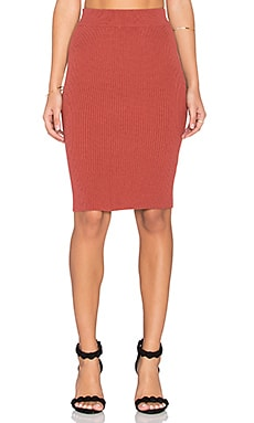 GLAMOROUS Pencil Skirt in Rust