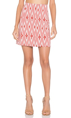 Skirt in Red White Aztec