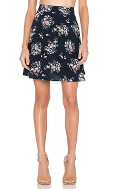 Skirt in Navy Vintage Floral