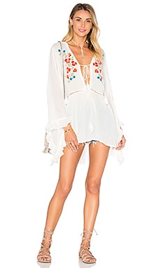 Flowy Top en Cream Embroidered