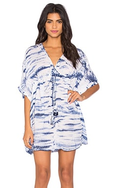 Alyssa Tunic in Blue Tie Dye