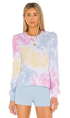Heidi Ruffle Tie Dye Sweatshirt Generation Love $52