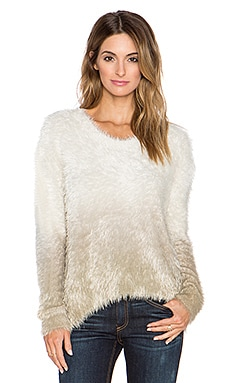 Generation Love Camille Ombre Feather Knit Sweater in Oatmeal