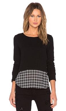 Generation Love Coco Plaid Sweater in Black & Plaid