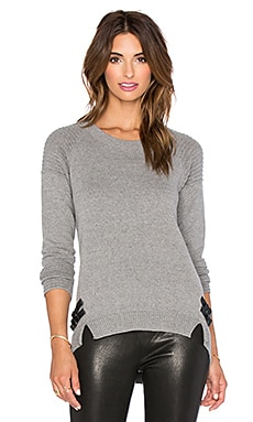 Generation Love Mia Ottoman Buckled Sweater in Charcoal Grey