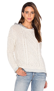 Phoebe Cable Knit Sweater in Cream