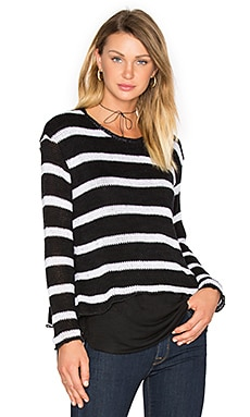 Molly Stripes Sweatshirt – Black & White