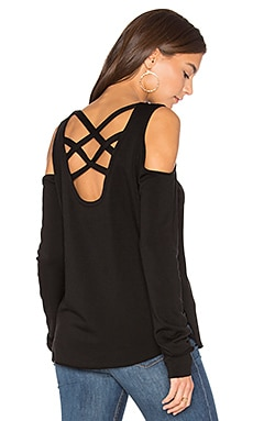 Marie Crisscross Sweatshirt in Black