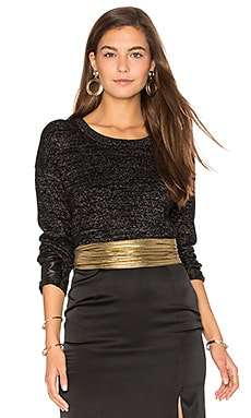Lexi Lurex Top in Black With Lurex