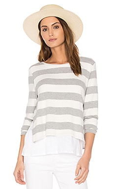 Major Double Layer Sweater in Stripes