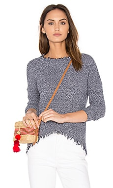 Joni Fringe Sweater in Navy