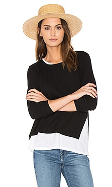 Ellie Double Layer Top in Black & White