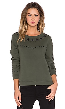 Generation Love Cara Army Embellished Sweatshirt in Army & Black