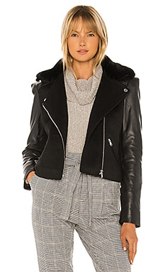 Collins Faux Fur Moto Jacket Generation Love $385