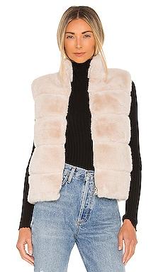 Roxanne Faux Fur Vest Generation Love $285 NEW