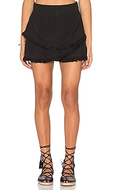 Lillian Fringe Skirt in Black
