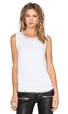 Generation Love Micah Pom Pom Tank in White