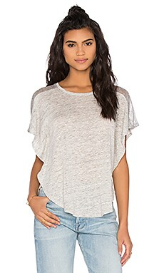 Elena Mesh Top in Heather Grey