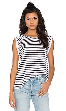 Jude Fringe Tee in Stripe